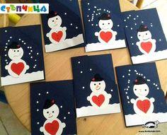 Snowman Love Cards