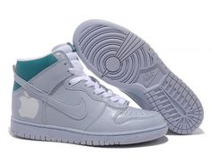 hot sale online fab0d 4424e Nike Dunk High Apple Mens Shoes - GreyGreenWhite -