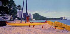 Pastel Afternoon, Waikiki Beach by Juno Galang