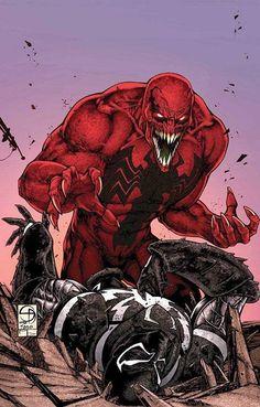 Agent Venom at the mercy of Toxin