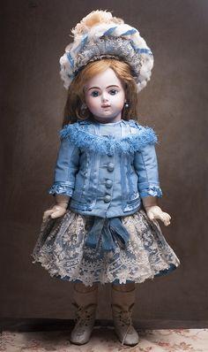 Кукла BRU  (Брю) с закрытым ртом, 1890г, 67см