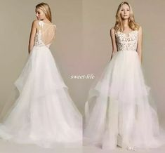 Discount Hayley Paige Summer Wedding Dresses Tulle Skirts Backless Sheer Lace Spaghetti 2016 New Design Cheap Sexy Bohemia Bridal Gowns Custom Made Long Sleeve Wedding Dress Muslim Wedding Dresses From Sweet Life, $120.99| Dhgate.Com #backlessweddingdresses #muslimweddingdresses