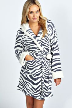 Zebra Print Fleece Gown >> http://www.boohoo.com/restofworld/gifts/gifts-for-her/icat/nightwear/holly-zebra-print-fleece-gown/invt/azz43002