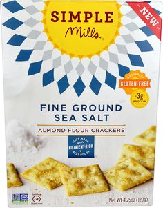 Simple Mills Almond Flour Crackers Fine Ground Sea Salt