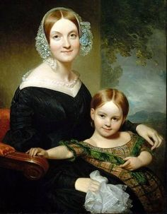 Henry Inman 1801 1846 Georgianna Buckham And Her Mother