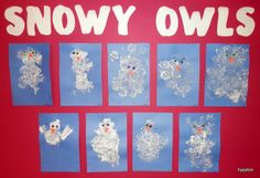 Puffy Paint Snowy Owls - Tippytoe Crafts