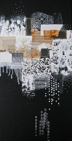 ask seek knock by Anca Gray - mixed media collage #black