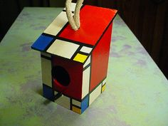Piet+Mondrian+Inspired+Birdhouse+by+CollectivelyCathy+on+Etsy,+$15.00