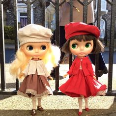 """""""It's a lovely day for being out and about!"""" #kennerblythe  #blythe  #vintagedoll  #handmade  #sunshine #walks #friends #street #urban #ootd #weekend #kawaii"""