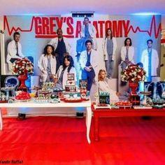 Medical Party, Nurse Party, Greys Anatomy Funny, Grey Anatomy Quotes, Birthday Party Decorations, Birthday Parties, Greys Anatomy Characters, Funny Iphone Wallpaper, Meredith Grey