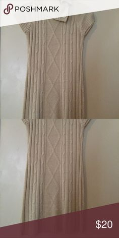 Cream sweater dress Turtle neck button cream sweater dress Dresses