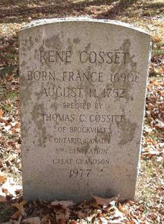 My French ancestry (and my middle name) traces back through Rene Cosset (Cossitt)