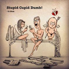 Stupid Cupid Dumb! by Lt Blak, via Behance