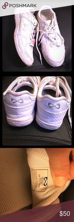 Nfinity cheer shoes Nfinity (infinity) rival cheer shoes. Size 7. Worn multiple times but still in great condition. Does not come with NCA national tag and will clean before shipping! Feel free to make an offer :) nfinity Shoes Athletic Shoes