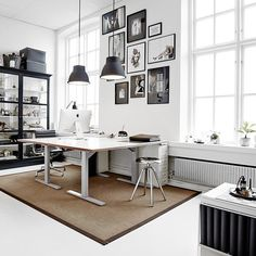 rug under the office table... see more inspiration on www.homeanddelicious.com