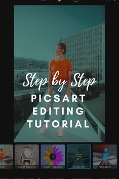 In this step by step tutorial, you'll learn how to edit photos and create 8 amazing looks in PicsArt Photo Editor. Photoshop For Photographers, Photoshop Tips, Photoshop Photography, Photoshop Tutorial, Photography Tips, Photoshop Design, Creative Photography, Lightroom, Pics Art App