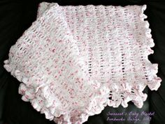 Ruffled Edge Baby Blanket - free crochet pattern - easy