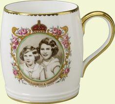Coronation mug with Princesses Elizabeth and Margaret    1937