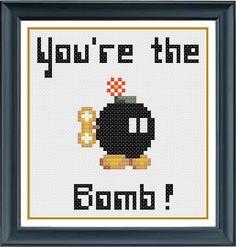 You're the Bob-omb - Super Mario Cross Stitch PDF Pattern