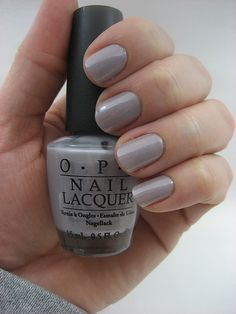 Grays and taupes can be very fun too! Come by to get your nails all perfect for the holiday season! OPI My Pointe Exactly is waiting. Nail Polish Style, Opi Nail Polish, Opi Nails, Gray Polish, Gel Nail, Trendy Nails, Cute Nails, Opi Nail Colors, Manicure Y Pedicure