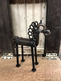 Welded metal horse figure