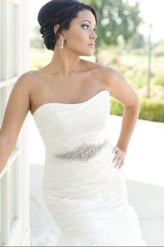 Custom Bridal  Wedding rhinestone belt or by Amaleeaccessories, $90.00