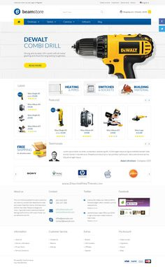 BeamStore is an advanced WooCommerce #WordPress theme for #tools #eCommerce websites with 5 different homepage layouts download now➩ https://themeforest.net/item/beamstore-multipurpose-woocommerce-theme/15949790?ref=Datasata