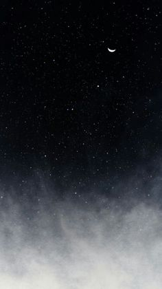 Clouds, space, and crescent moon night sky wallpaper, iphone wallpaper moon, moon Cute Black Wallpaper, Look Wallpaper, Black Background Wallpaper, Wallpaper Space, Black Aesthetic Wallpaper, Aesthetic Iphone Wallpaper, Aesthetic Wallpapers, Wallpaper Backgrounds, Amazing Wallpaper