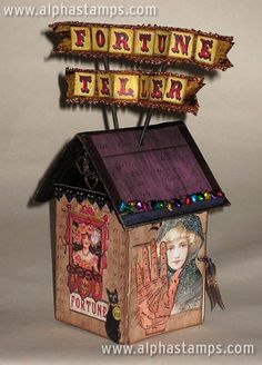 Fortune Teller House. (would do with 3 sides to allow for an inside crystal ball display)