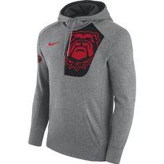 Nike Men's University of Georgia Fly Fleece Pullover Hoodie (Grey Dark, Size Large) - NCAA Licensed Product, NCAA Men's Fleece/Jackets at Academy S...