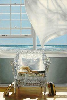 Window Ocean View by Karen Hollingsworth