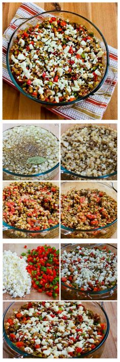 This delicious Vegetarian Greek Lentil Casserole starts with lentils that cook in the oven.  This is perfect for a Meatless Monday dinner, and it would make a lovely side dish as well.  [from KalynsKitchen.com]