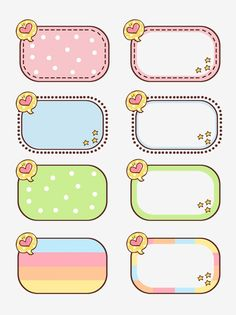 Border Texture Cute Cartoon With Commercial Elements Vector and PNG Bullet Journal School, Bullet Journal Ideas Pages, Printable Stickers, Cute Stickers, Agenda Printable, Printable Scrapbook Paper, Journal Stickers, Planner Stickers, Cute Borders