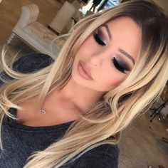 Glam Makeup #All dark smokey eyes with a little highlight ✨ ❌⭕️