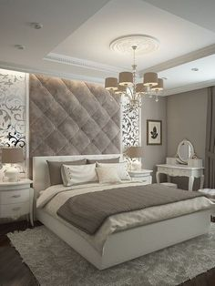 44 Stunning Grey Bedroom Decor Ideas - The bedroom, more than any other room in a home, tends to reflect personal style. Perhaps this is because the bedroom is a sanctuary, a place of resto. Home Bedroom, Bedroom Interior, Luxurious Bedrooms, Stylish Bedroom, Minimalist Bedroom, Stylish Bedroom Design, Modern Bedroom, Rustic Master Bedroom, Interior Design