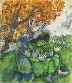 View LA FEMME ET LA BÊTE By Marc Chagall; Gouache on paper; Access more artwork lots and estimated & realized auction prices on MutualArt. Marc Chagall, Henri Matisse, Pablo Picasso, Folklore Russe, Chagall Paintings, Art Paintings, Chaim Soutine, Tachisme, Kandinsky
