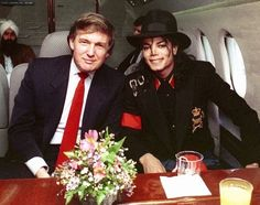 Michael Jackson and Donald Trump in a private jet, late 80s. [ 836x659 ] : HistoryPorn