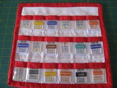 Sewing Machine Needle Organizer. Combine this organizer's pockets with grid pattern organizer for singletons = The cure for needing to store needles seperately.