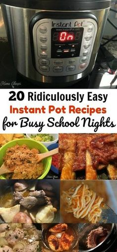 20 Ridiculously Easy Instant Pot Recipes for Busy School Nights - perfect for nights when every second counts! Skip the drive-thru, let your Instant Pot do the cooking! Check out these 20 Ridiculously Easy Instant Pot Recipes for Busy School Nights. Instant Recipes, Instant Pot Dinner Recipes, Recipes Dinner, Soup Recipes, Chicken Recipes, Recipe For Instant Pot, Lunch Recipes, Dessert Recipes, Goulash Recipes