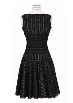 Vestido de crochet Negro - Renee - Lei Yu Xuan