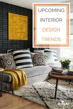 2018 is almost here! And we got the latest trends to keep your interiors from falling out of style, come check them out! [2018 Interior Design Trends, 2018 Decor Trends, Latest Interior Design Trends, Interior Design Ideas, Decor Ideas, Chic Living Room Decor, Chic Living Room Ideas, Touch Of Gold Decor]