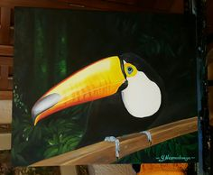 Toucan from Iguazu. Oil, canvas, original. Painting by Yana Nesmashnaya.