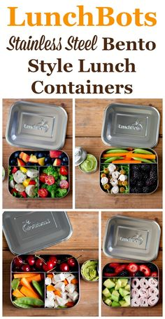 Do you pack your lunch each day for work or school? If so, these LunchBots stainless steel bento style lunch containers are perfect for this purpose, and dishwasher safe and BPA free.