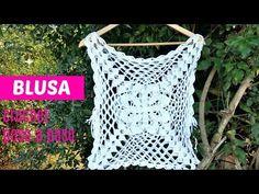 Transcendent Crochet a Solid Granny Square Ideas. Inconceivable Crochet a Solid Granny Square Ideas. Crochet Box, Crochet Cover Up, Crochet Flower Tutorial, Granny Square Crochet Pattern, Crochet Motif, Crochet Flowers, Knit Crochet, Crochet Patterns, Crochet Granny
