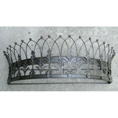 Royal Crown Topped Teester Bed Valance Curtain holder or for door drapery hardware $79