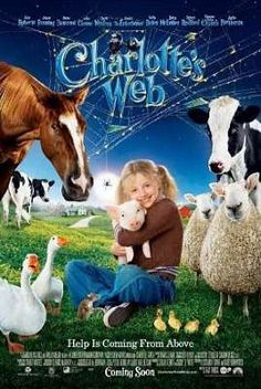 """Great Family #Movies To Enjoy With Your #Kids - """"charlotte´s web"""" movie poster"""