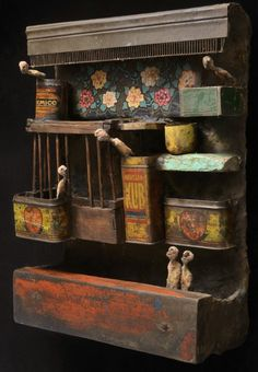 India / Gerard Cambon     There's something about this...colors, wood + tins...?