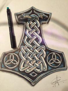 Эскизы татуировок участников наше.. Norse Mythology Tattoo, Norse Tattoo, Celtic Tattoos, Viking Tattoos, Viking Symbols, Viking Art, Viking Runes, War Tattoo, Tattoo On