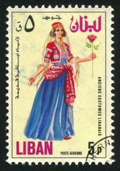 Costume Libanais. Post stamp from Lebanon 1973