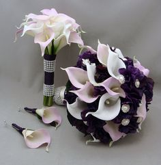 Reserved Purple Lavender Real Touch Calla by SongsFromTheGarden